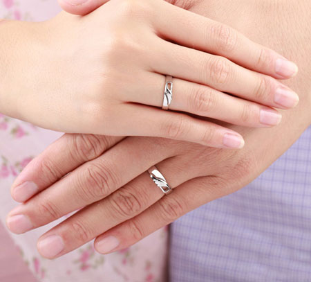 Pure Love Angel\'s Wings Christian Promise Rings for Couples