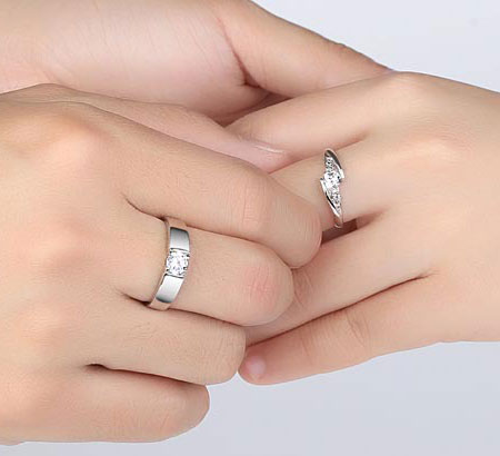Brilliant Classic CZ Engagement Rings for Men & Women - Click Image to Close