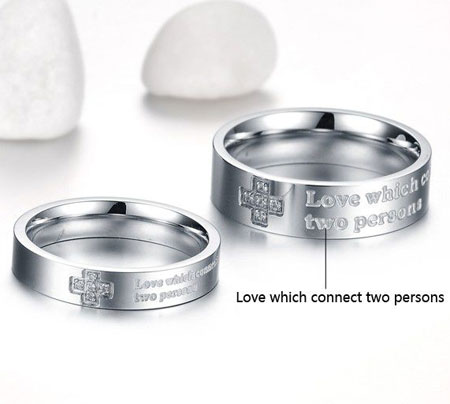 christian titanium wedding bands wholesale cross promise rings - Christian Wedding Rings