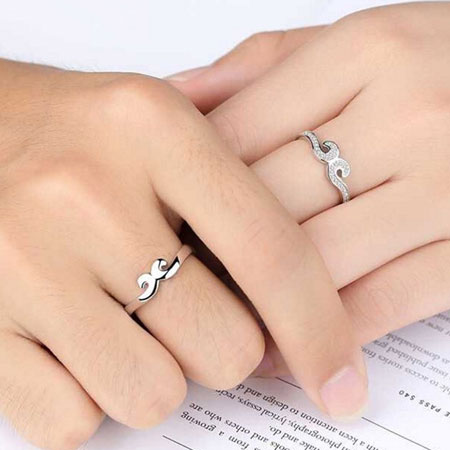 Unique Mustache Crown Couple Rings with Magic Love Spells - Click Image to Close