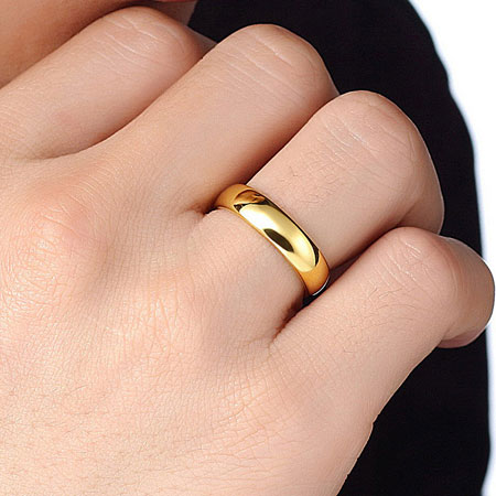 Couples Yellow Gold Tungsten Carbide Wedding Bands for Men and