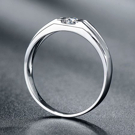 White gold diamond wedding bands for men