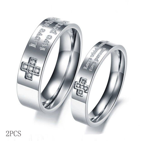 Christian Titanium Wedding bands Wholesale Cross Promise Rings