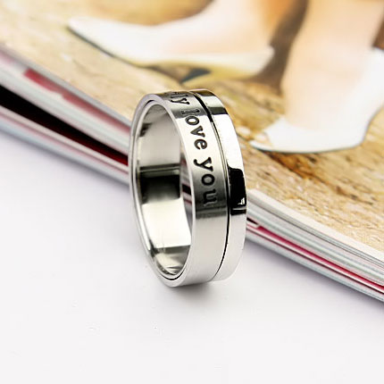 Engraved Spinner Rings Cheap Promise Rings for Men