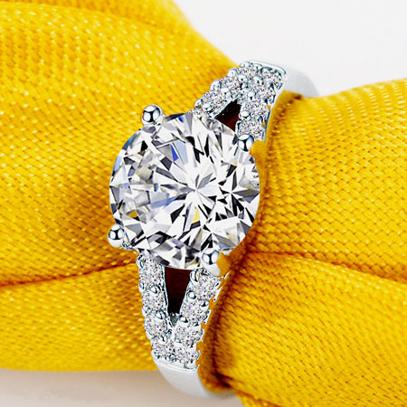 Stunning Lab Created Diamond Rings Cheap Halo Engagement Rings