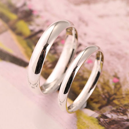 Engravable 999 Pure Silver Rings Sterling Silver Wedding Bands