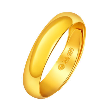 Pure Plain Gold Rings 24k Yellow Wedding Bands For Men